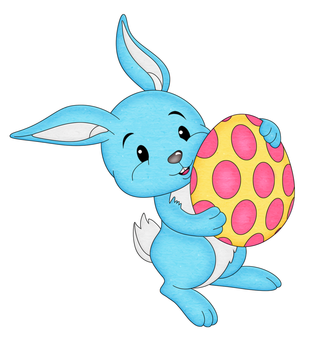 Blue clipart easter bunny Egg Clipart Easter with View