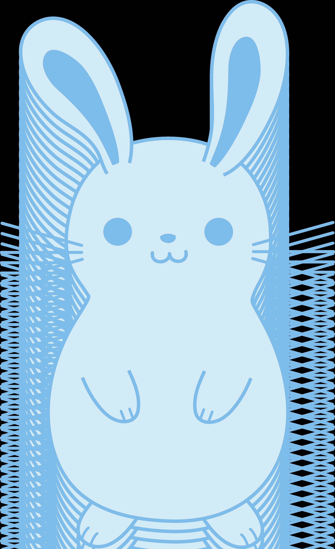 Blue clipart easter bunny Bunny Art Rabbit Easter Cute