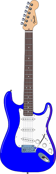 Blur clipart electric guitar Art image Blue Clker this