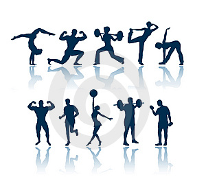 Blue clipart fitness Kids Fitness fitness collection clipart