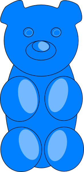 Gummy Bear clipart blue Clip com Art image Outline