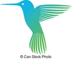 Blue clipart hummingbird Soaring Vector colibri Clipart symbol