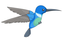 Blue clipart hummingbird Search Kb Results From: for