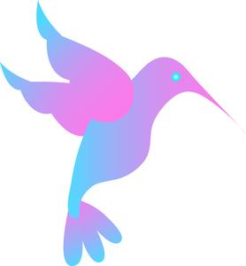 Blue clipart hummingbird Hummingbird Blue Colorful Hummingbird Pink