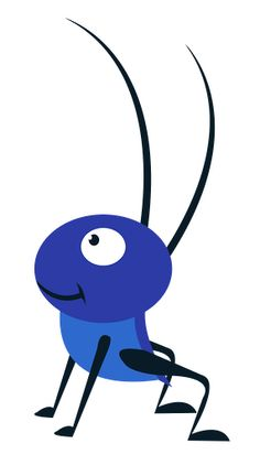 Bugs clipart blue Insects vector Moraes VectorStock® on