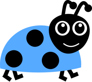 Bugs clipart blue Online Clip Art Ladybug Clker
