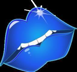 Blue clipart kiss Emoticon Clipart Free 128 Kiss