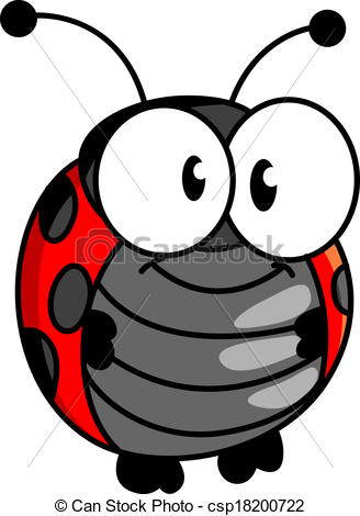 Blue clipart ladybird Smiling happy Smiling or ladybird