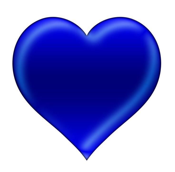 Blue clipart love heart Blue ❣Hearts❣ ‿✿⁀♡♥♡❤ 300 heart