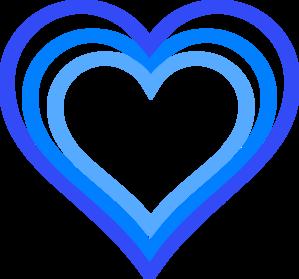 Blue clipart love heart Triple vector Triple Blue Heart