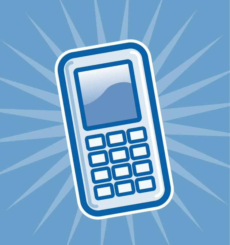 Phone clipart blue cell #3