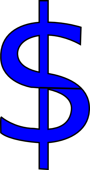 Money clipart blue At Download Money as: Blue