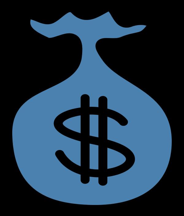 Money clipart blue Clipart black clipart money bag