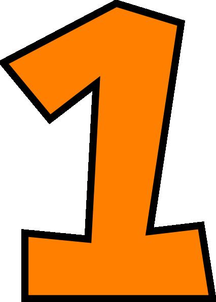 Blue clipart number one Transparent Number Orange 4 Art