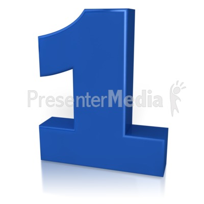 Blue clipart number one For Clipart Presentation  Number