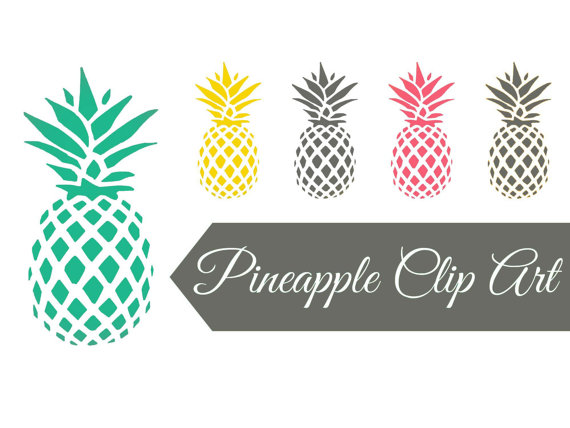 Blue clipart pineapple Studio grey art clipart Digital