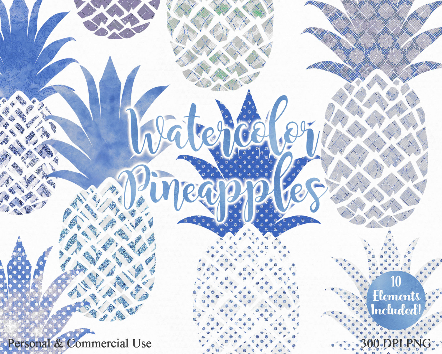 Blue clipart pineapple Clip Use & Fun SILVER