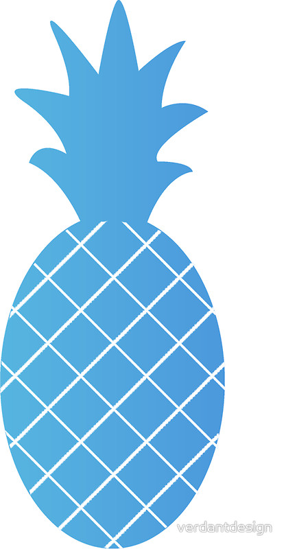 Blue clipart pineapple Pineapple MerMade MerMade ( Pineapple