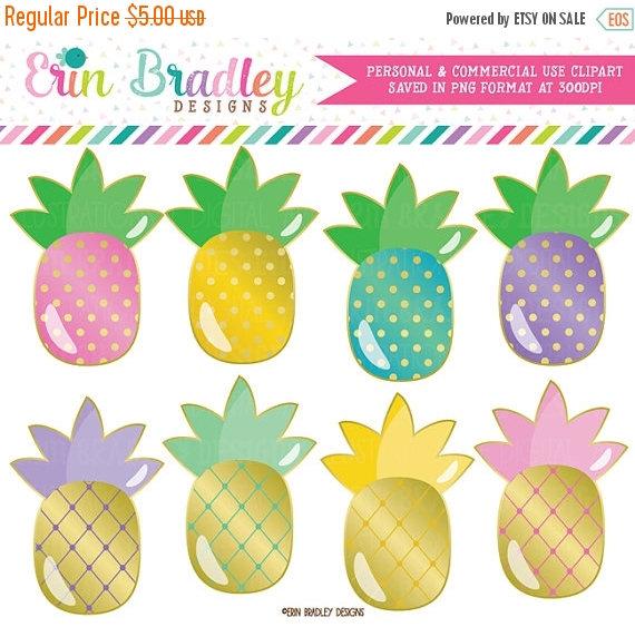 Blue clipart pineapple Blue Il_570xn Pink Golden 50%