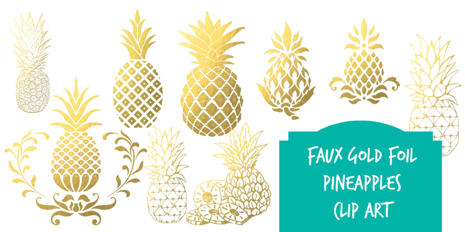 Blue clipart pineapple Art pineapple Black Pineapples download