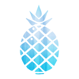 Blue clipart pineapple Tags  Icon #056496 Pineapple