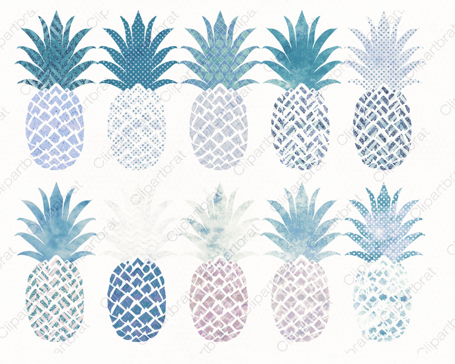 Blue clipart pineapple Clipart This PINEAPPLE file is