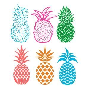 Blue clipart pineapple Download Pineapple Scrapbooking File Cuttable