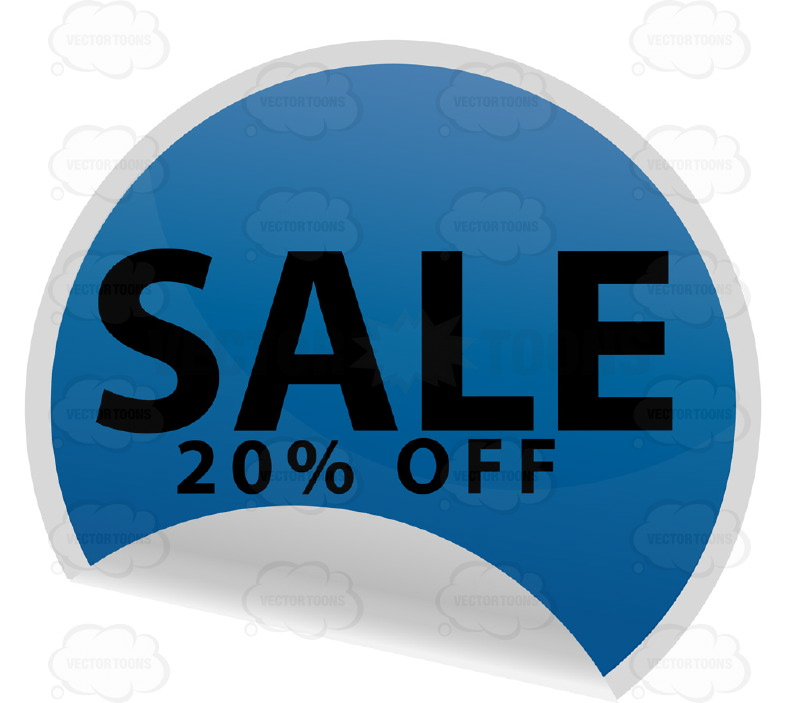 Blue clipart price tag 20 With In Percent Clipart: