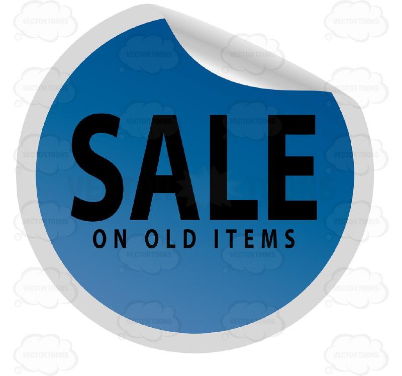 Blue clipart price tag Price Circle Tag On Cartoon
