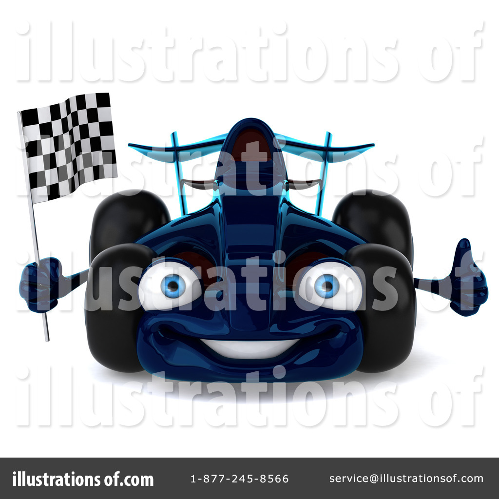 Race Car clipart blue Royalty Race Stock by Illustration