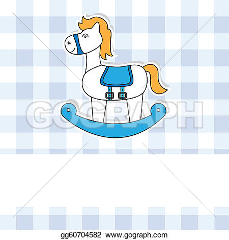 Blue clipart rocking horse Royalty GoGraph Free Clip Horse
