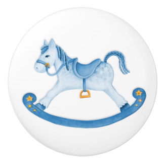 Blue clipart rocking horse Paint Zazzle Knobs Horse Pulls