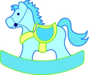 Blue clipart rocking horse Rocking Image boy for for