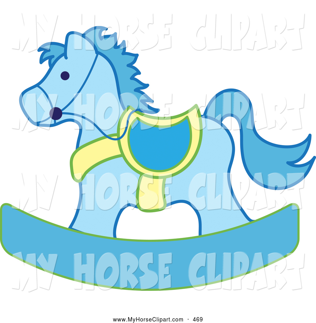 Blue clipart rocking horse Yellow Yellow of Horse Clipart