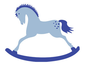 Blue clipart rocking horse Rgbstock Rocking stock Free Blue