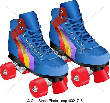 Blue clipart roller skate ROLLER  ROLLER Search csp16021716