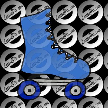 Blue clipart roller skate Roller Roller Classroom  Use