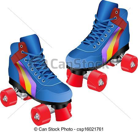 Blue clipart roller skate ROLLER  ROLLER Search csp16021761