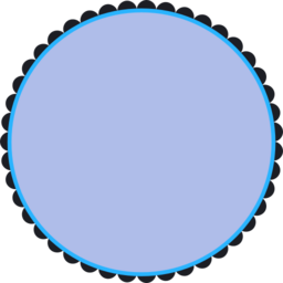 Blue clipart round frame Public download i2Clipart Scalloped 128