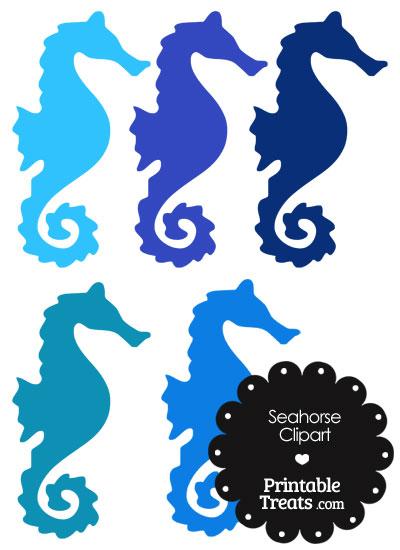 Navy clipart seahorse Seahorse clip Blue Art photo#8