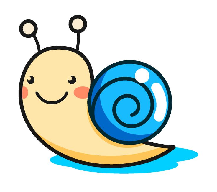 Blue clipart snail หอยทาก images 34 on Snail