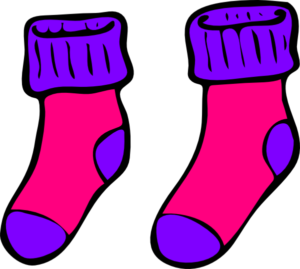 Pair clipart colorful sock  clipart Free clipart Socks