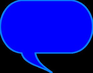 Blue clipart speech bubble Bubble Talk Clip Clip Art