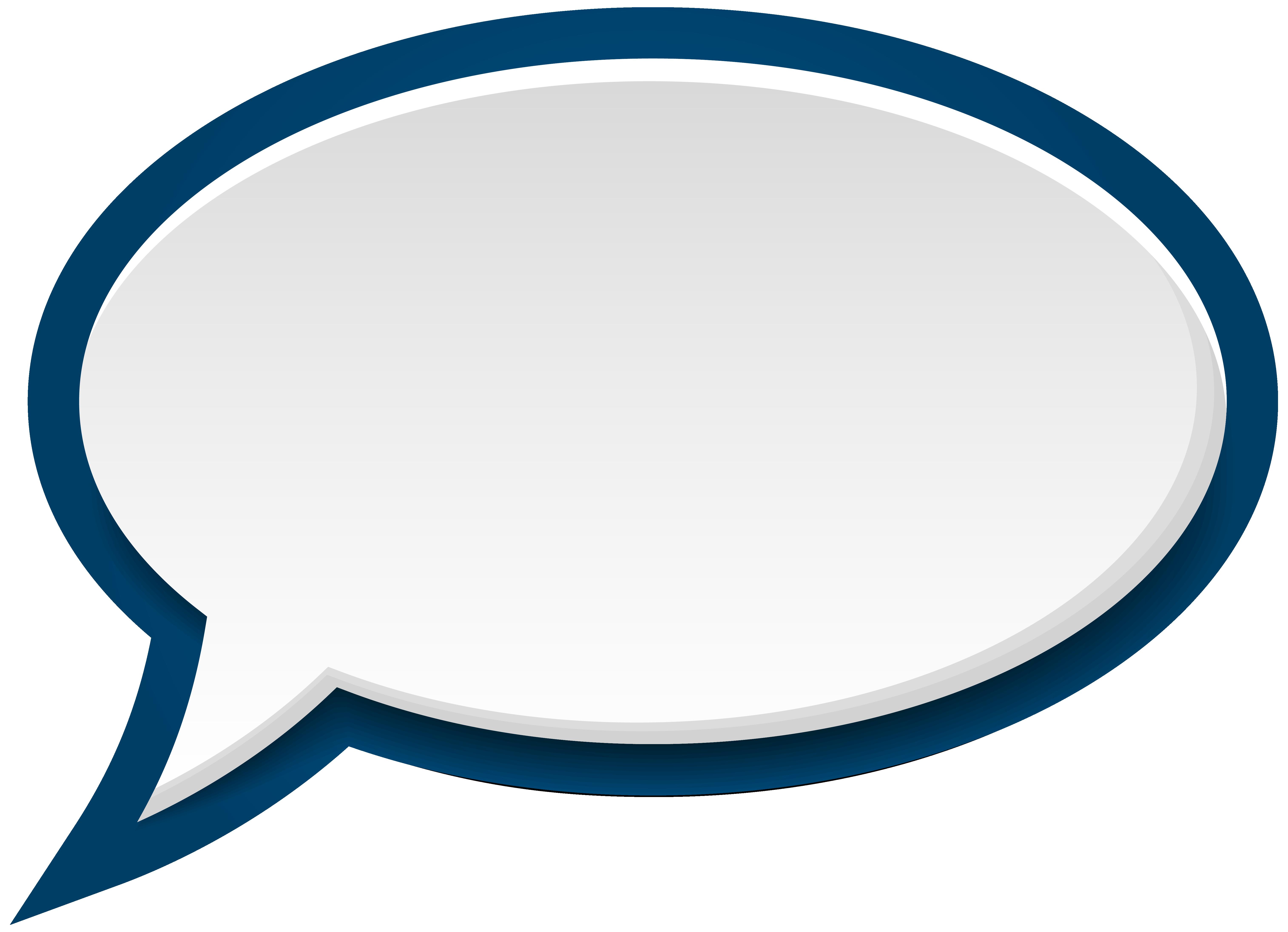 Blue clipart speech bubble PNG full Speech Clip Art