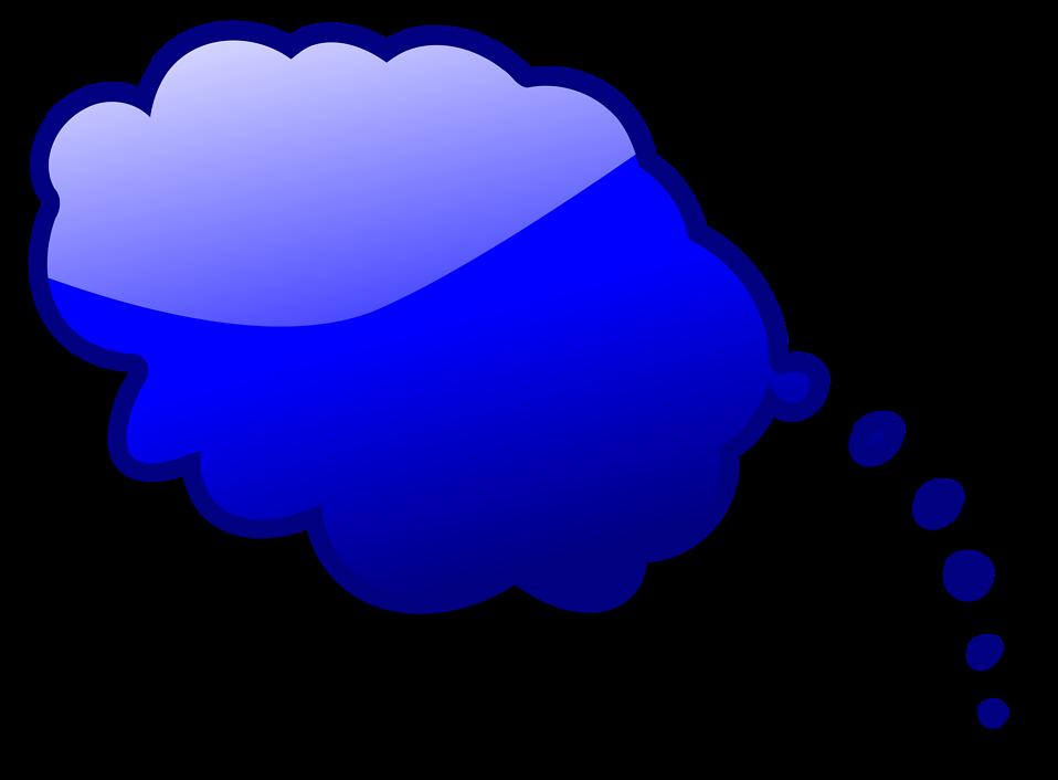 Blue clipart speech bubble : of a blue Free