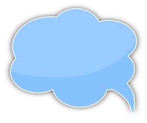 Blue clipart speech bubble Clip Bubble Blue Art Download