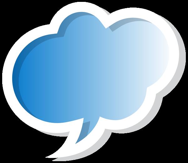 Blue clipart speech bubble Image Speech  Blue Bubble