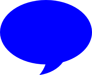 Blue clipart speech bubble Png Speech png Wikipedia Bubble