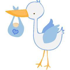 Blue clipart stork Free art Clipart (105+) Stork