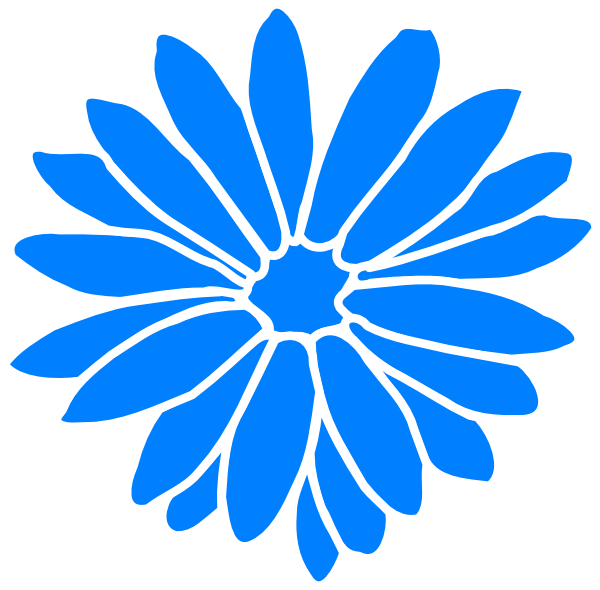 Blue clipart sunflower  at image Download com